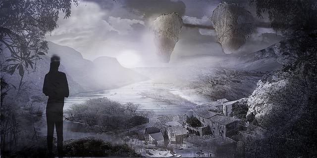 Matte painting fantasy landscape 1