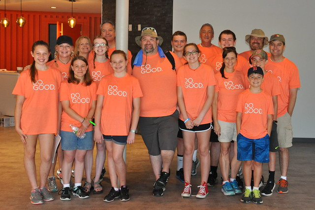 Families in Do Good Shirts