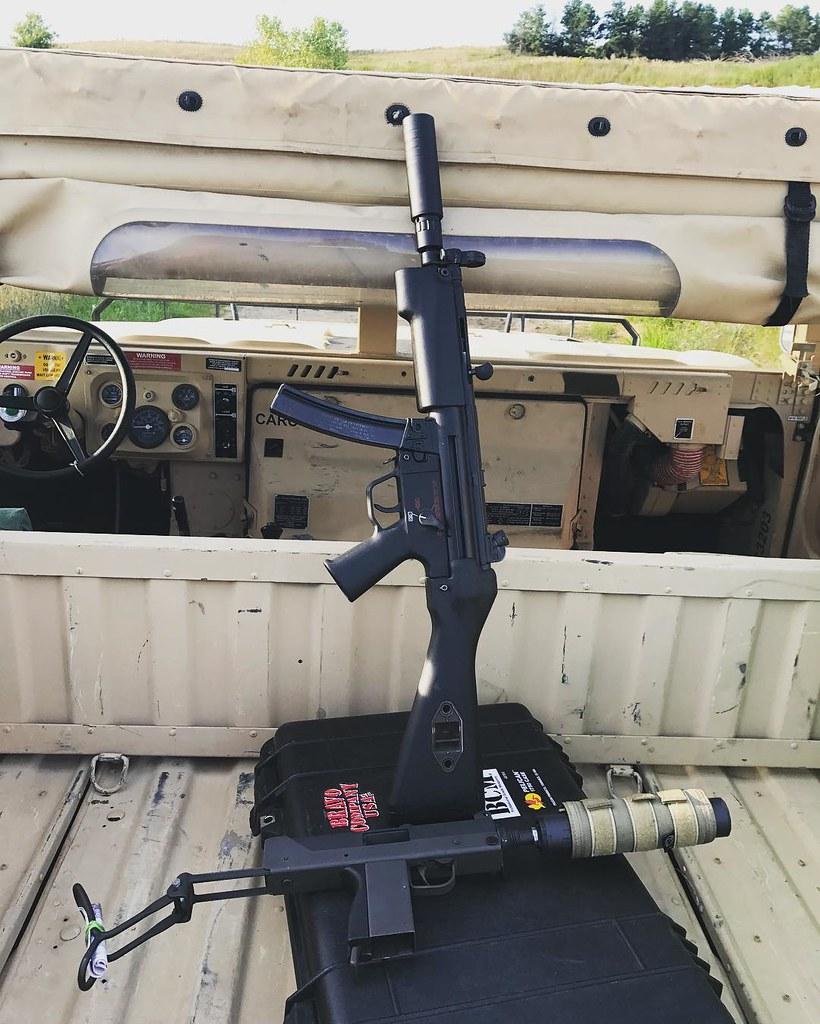 HK MP5 and UZI suppressed | moto4moto4 | Flickr