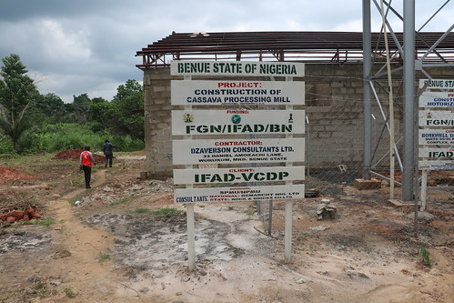 Cassava peel processing factory under construction in Benue State, Nigeria