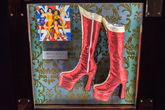 Hard Rock Hotel and Casino rock and roll memorabilia in Las Vegas. Boots of the Spice Girls Geri Halliwell.