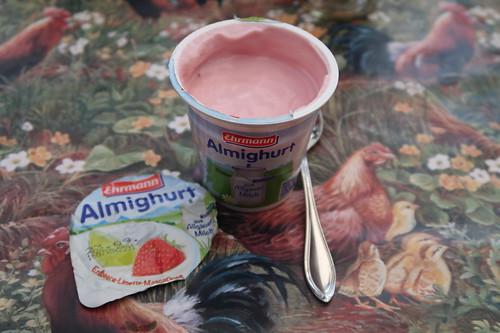 Almigurt als Nachtisch (Sorte: Erdbeer-Limette-Mascarpone)