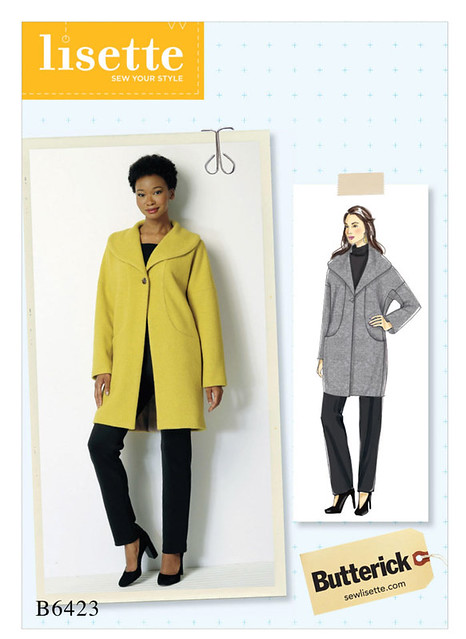 B6423 coat Butterick Lisette