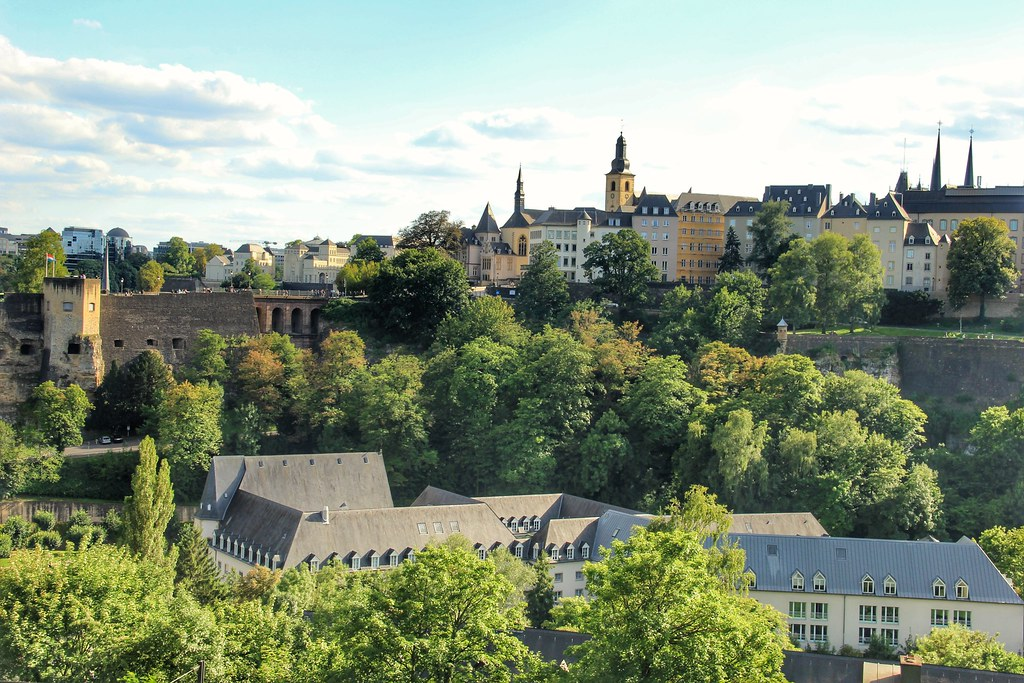 Views of Luxembourg City from Kirchberg