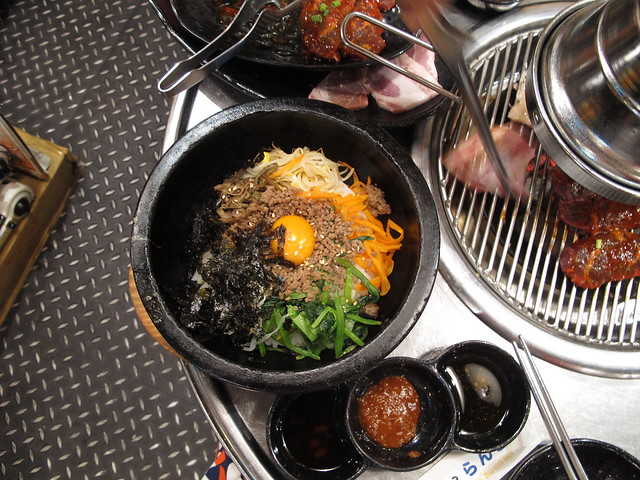 tuesday, tokyo, bibimbap, dinner in koreatown, japan