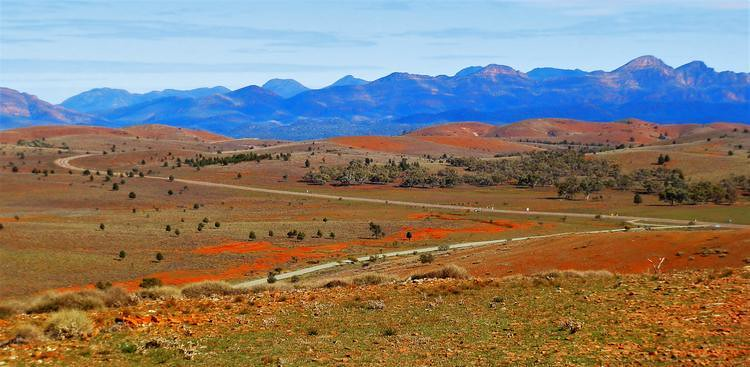 View from Hucks Lookout, Flinders Ranges, South Australia