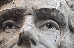 Abe's eyes - Mt. Rushmore National Monument, Black Hills, South Dakota