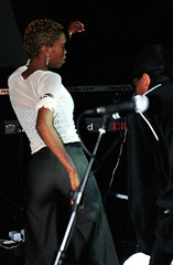 Ishmael Morabe South African R&B and kwaito Singer at the Stratford Rex London July 2002 040a girls