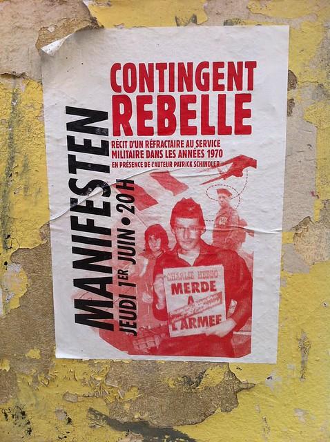 contingent rebelle, Manifesten
