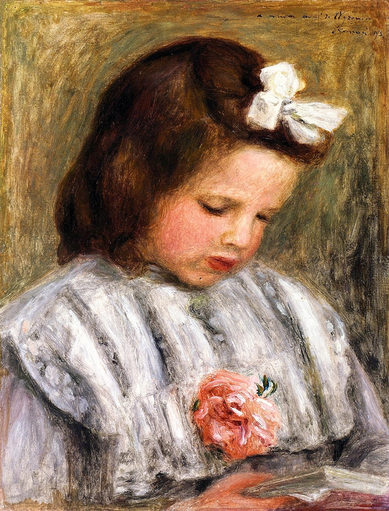 Head of a Little Girl by Pierre Auguste Renoir, 1900