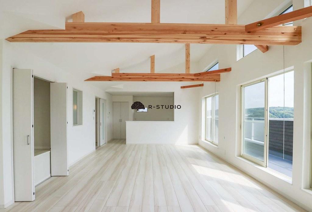 鎌倉の新築戸建:リビングダイニング