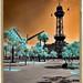 Ciutat de Barcelona.  Fotografia Infraroig (photography infrared).  Espectre Complet (fullspectrum).  Filtre IR 720nm.  Josep Vidal.