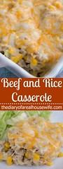 Beef and Rice Casser