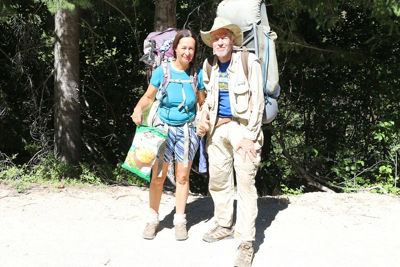 A final self-timer photo of the two of us after hiking ten days in the Glacier Peak Wilderness
