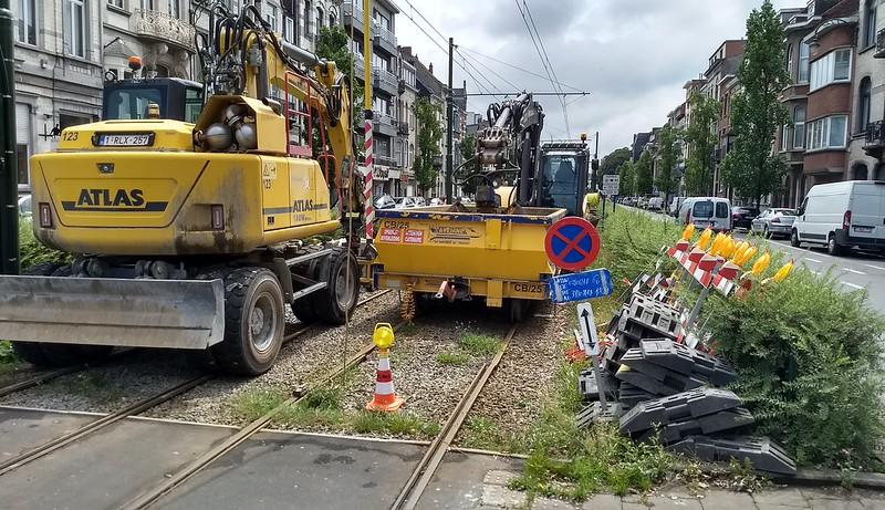 Tram works, Brussels