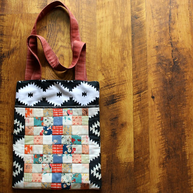 Love Story Canvas and Patchwork Tote Bag