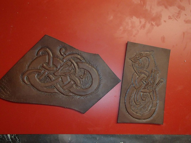 First Two Carved Leather Attempts