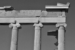 Athens - Acropolis bw