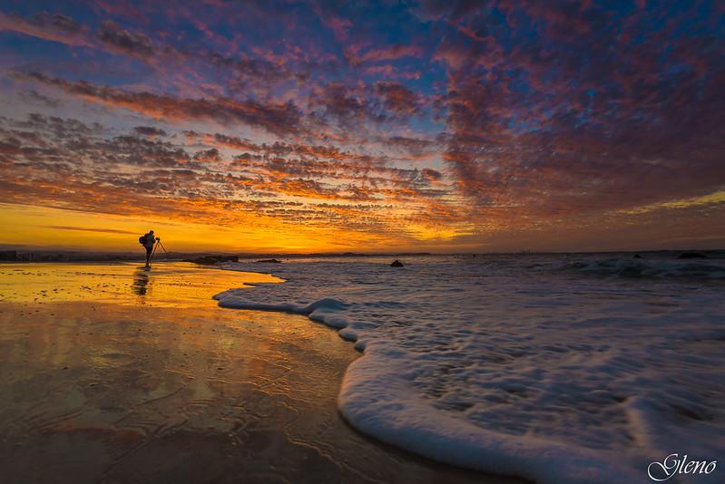 Evening fire= Gold Coast = Australia