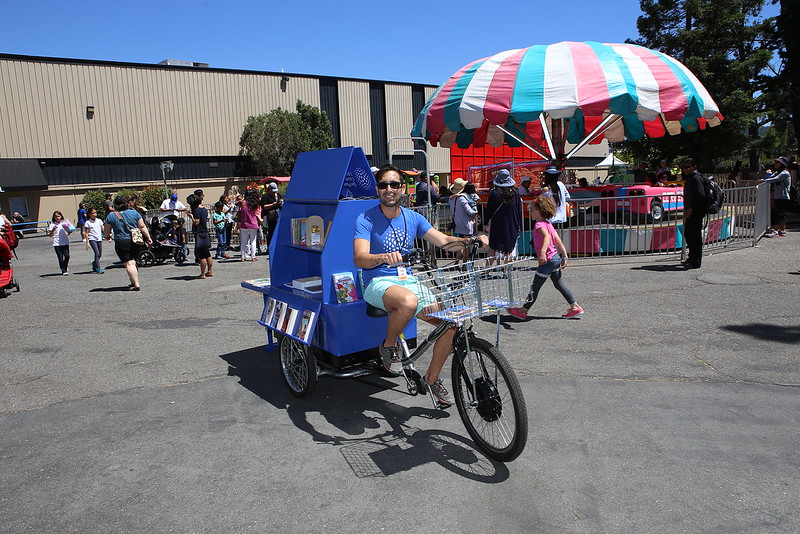 Book bike at San Mateo County Fair.