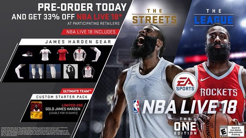 25ef5153788 NBA LIVE 18 - Harden on Cover  Pre-order Game for  40