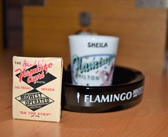 Old ash tray and matchbook Flamingo Hotel