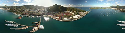 St. Thomas drone panorama