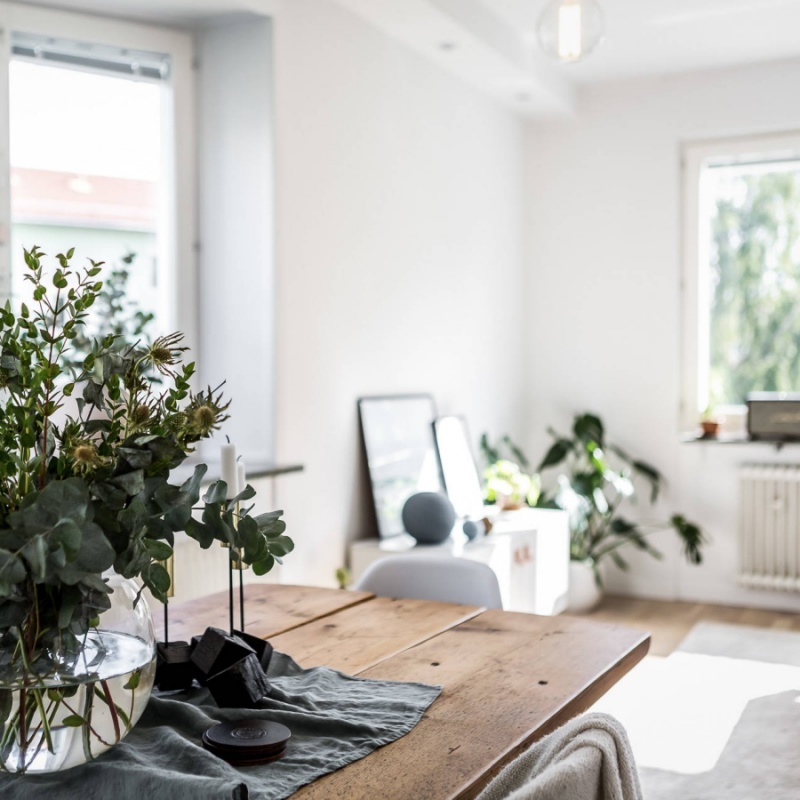 Minimal Scandinavian Light Filled Swedish Home
