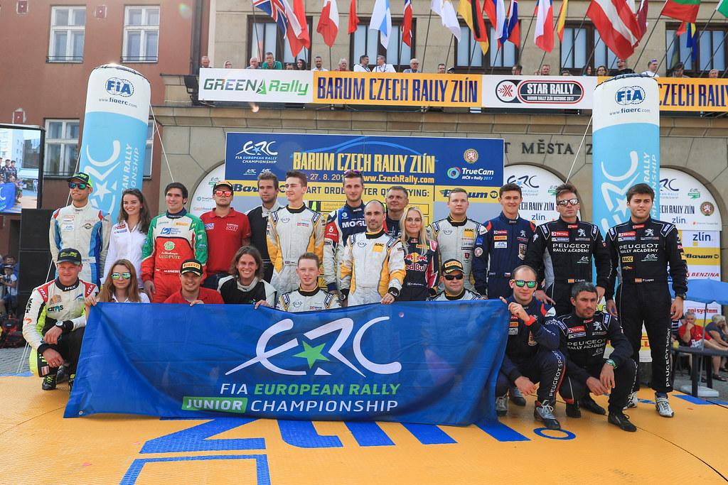 fia european rally junior during the 2017 European Rally Championship ERC Barum rally,  from August 25 to 27, at Zlin, Czech Republic - Photo Jorge Cunha / DPPI