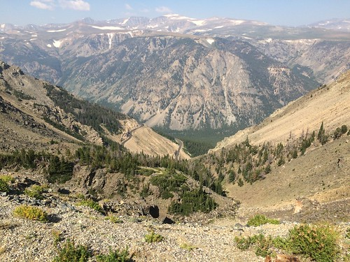 Beartooth Highway looking down