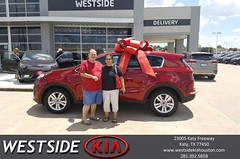 Congratulations James on your #Kia #Sportage from Rubel Chowdhury at Westside Kia!