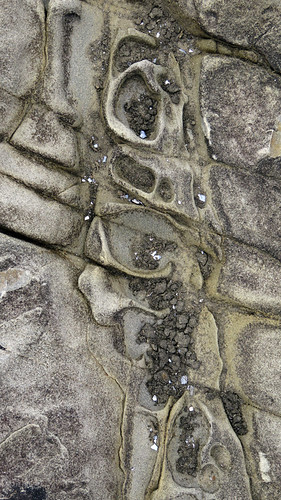 Rock texture on the beach in Loop Head, Ireland
