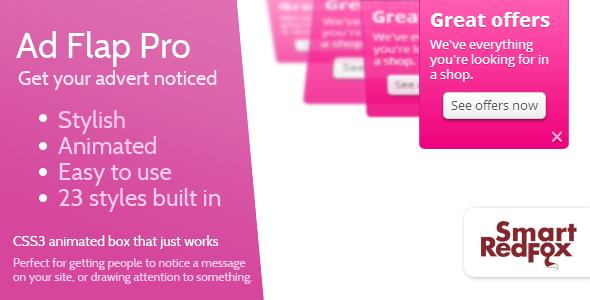 Advert Flap Pro v1.4.2 – WordPress