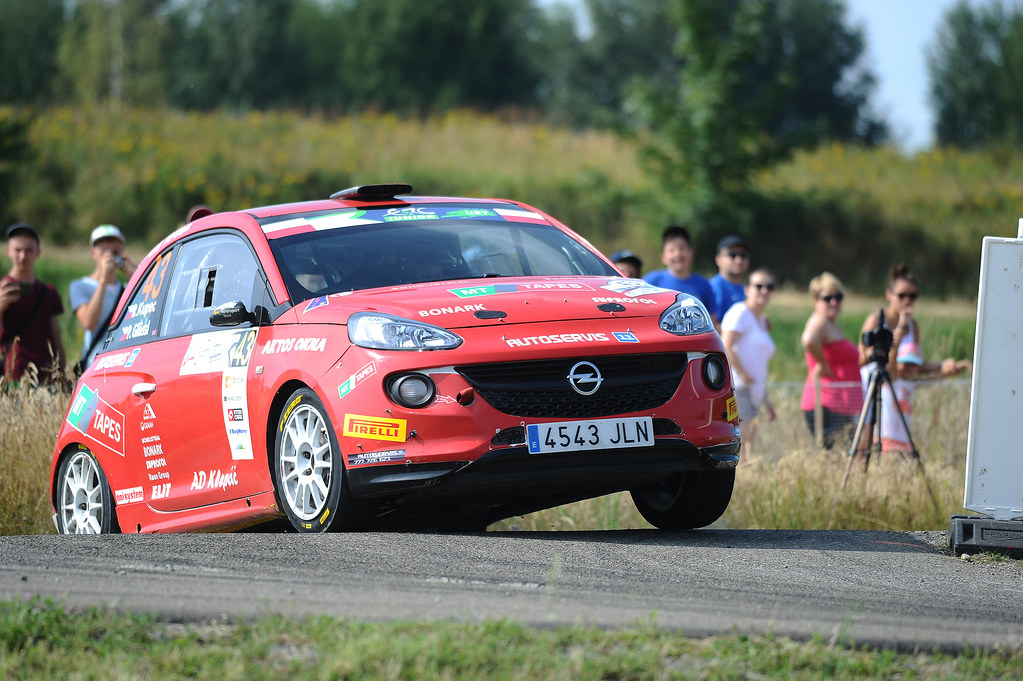 43 KUPEC Radomir (CZE) GLO¬SSL Petr (CZE) Opel Adam R2 action during the 2017 European Rally Championship Rally Rzeszowski in Poland from August 4 to 6 - Photo Wilfried Marcon / DPPI