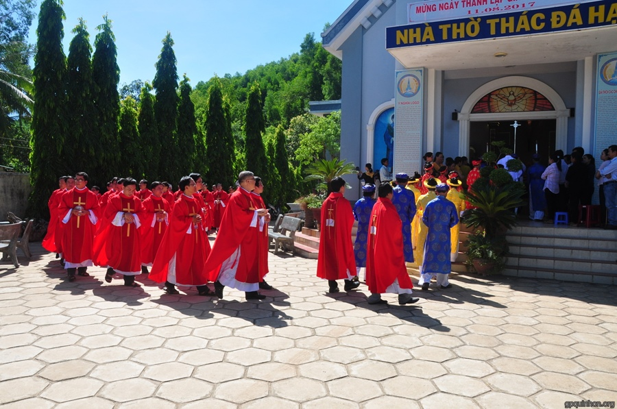 Thánh lễ thành lập giáo xứ Thác Đá Hạ