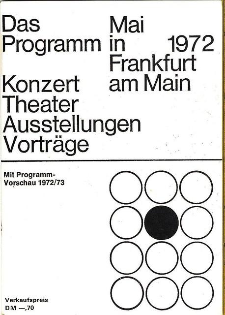 Konzert Programm - Jahrhunderthalle FfM Höchst - 1972 - S 1