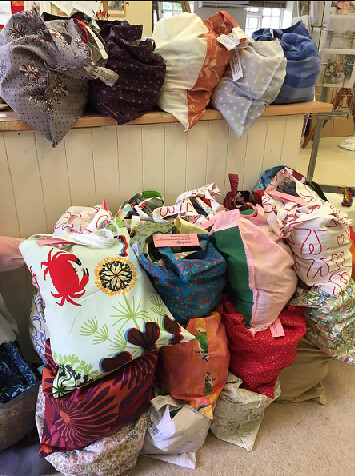 Sewing Bee - bags ready to go to London