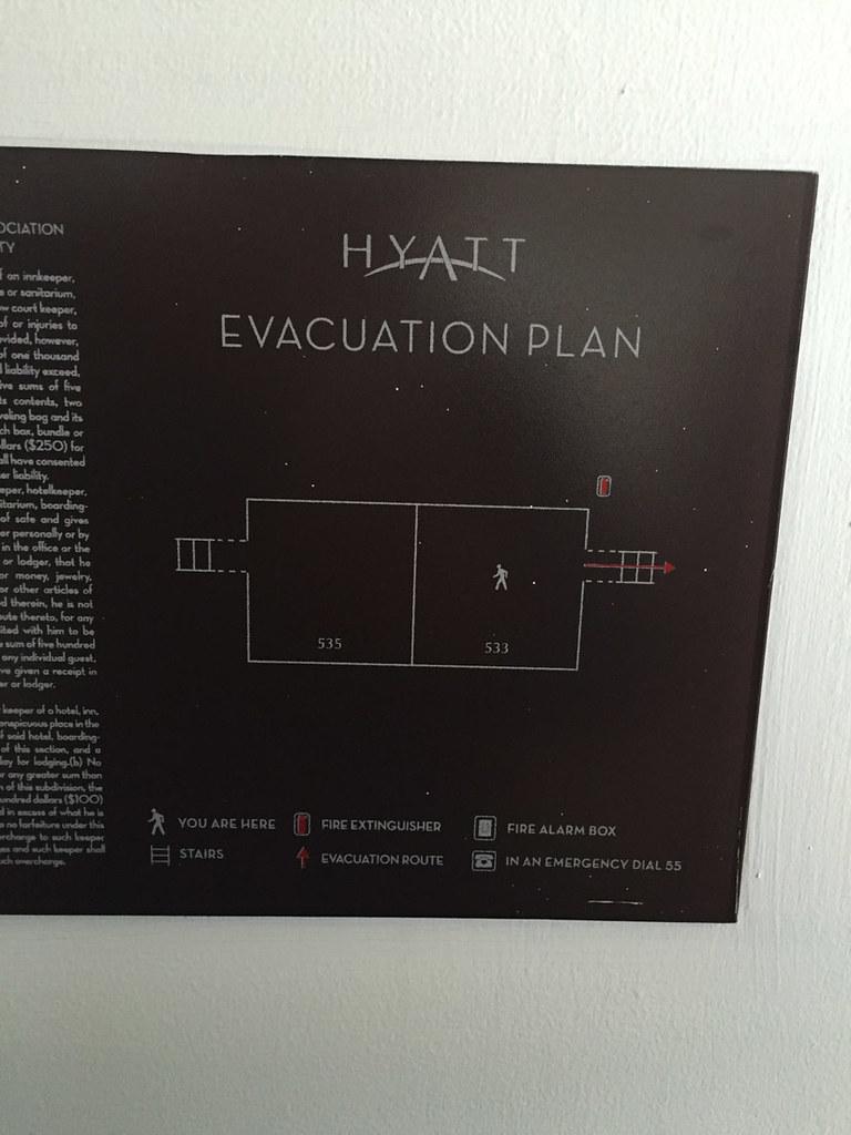 Evacuation Plan Placard