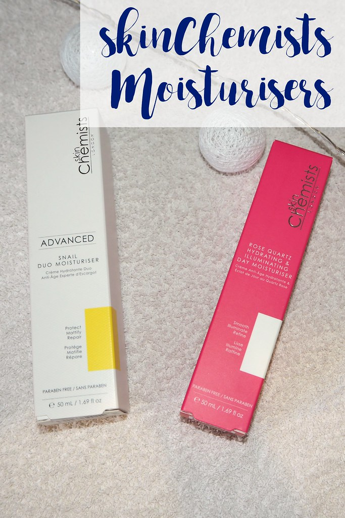 SkinChemists Moisturisers - Rose Quarts Hydrating & Illuminating Day Moisturiser and Advanced Snail Duo Moisturiser