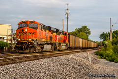 BNSF 6378 | GE ES44AC | BNSF Thayer South Subdivision