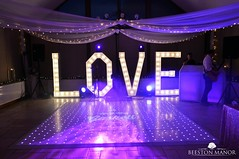 Dance floor and Love Letters at Beeston Manor