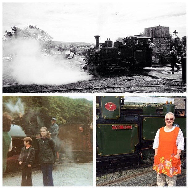 What a difference 43 years makes #tywyn #talyllynrailway #oldperson
