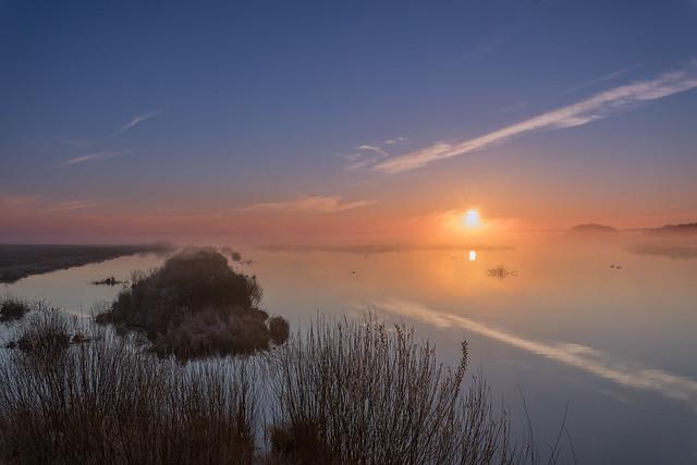 Sonnenaufgang Polder Glies