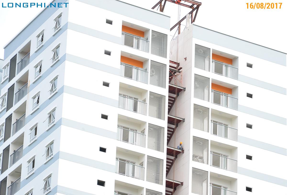 Tiến độ thi công tháp Nam M2 Luxury Home - Jamona Apartment quận 7 ngày 16/08/2017.