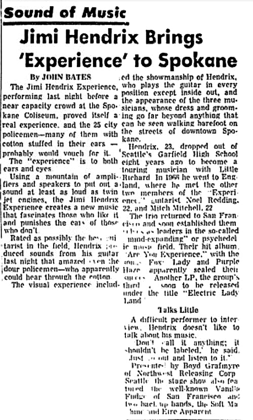 Spokane Washington Daily Chronicle - September  9, 1968