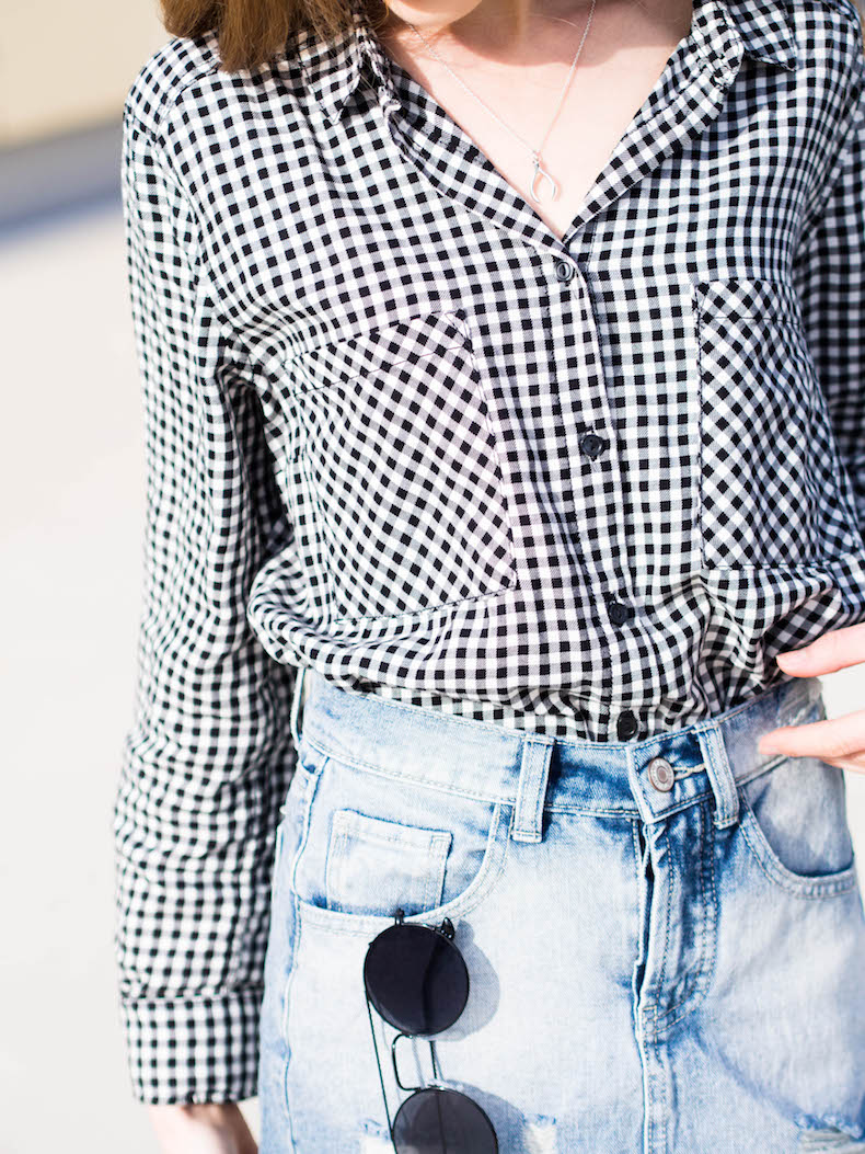 how-to-wear-gingham-shirt