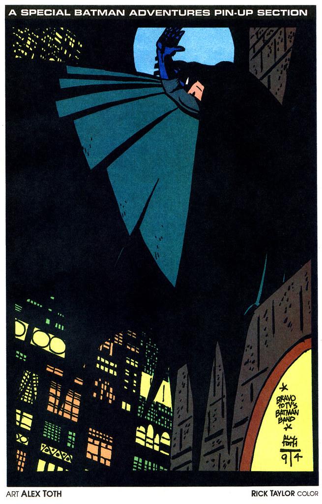 batman adventures 25 alex toth pinup