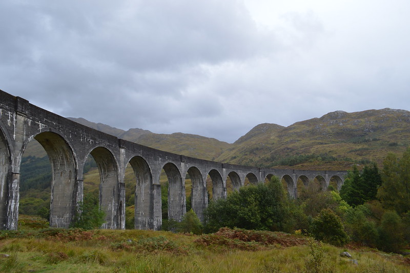 This is a picture of the Glenfinnan viaduct in Scotland