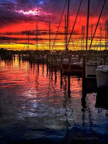 sunrise sunset cloudsstormssunsetssunrises cloud clouds maryland chesapeake bay water sunlight iphone digital art digitalart photo photoart boat boats sailboat