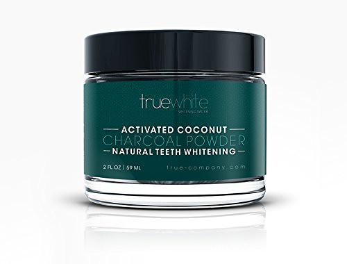 Teeth Whitening Natural Activated Charcoal Powder by truewhite - Perfect Teeth Whitener with Pure Charcoal Powder with Coconut - 02 FL Oz (1 Pack)